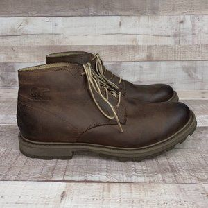 Sorel Madson Mens Brown Lace Up Ankle Boots 8.5